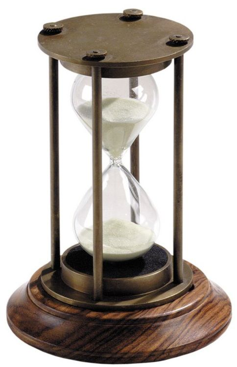 Bronzed 30 Minute Hourglass