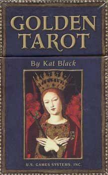 Golden Tarot Deck & Book By Kat Black