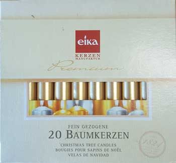"""1/2"""" Gold Chime Candle 20 Pack"""
