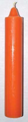 "9"" Orange Pillar Candle"