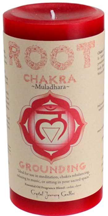 "Root Chakra Pillar Candle 3"" X 6"""