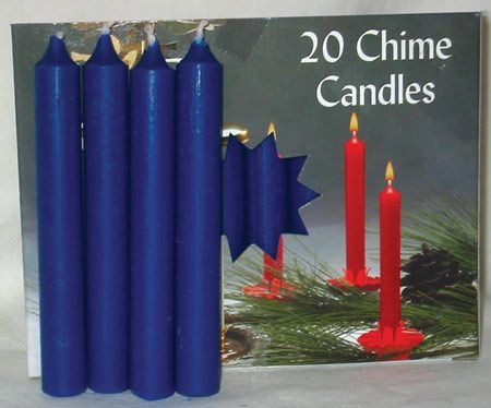 """1/2"""" Dark Blue Chime Candle 20 Pack"""