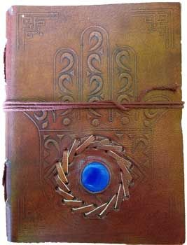 """5"""" X 7"""" Evil Eye Stone Embossed Leather W/ Cord"""