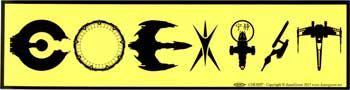 Coexist Scifi Bumper Sticker