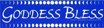 Goddess Bless Bumper Sticker