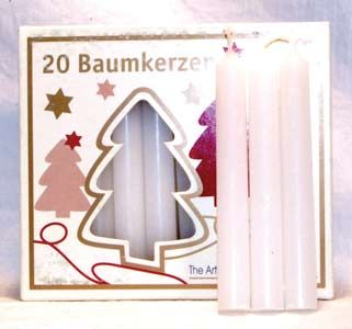 """1/2"""" White Chime Candle 20 Pack"""