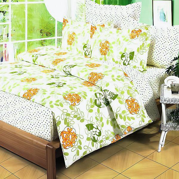 100% Cotton 3pc Duvet Cover Set - Summer Leaf