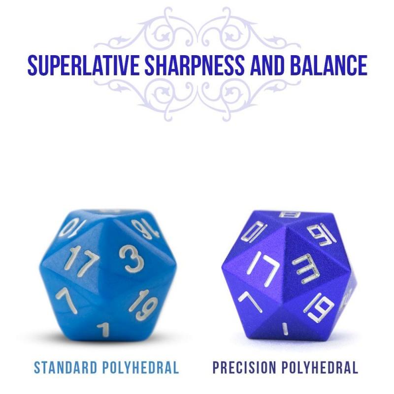 Set of 8 Cobalt Blue Precision Aluminum Polyhedrals