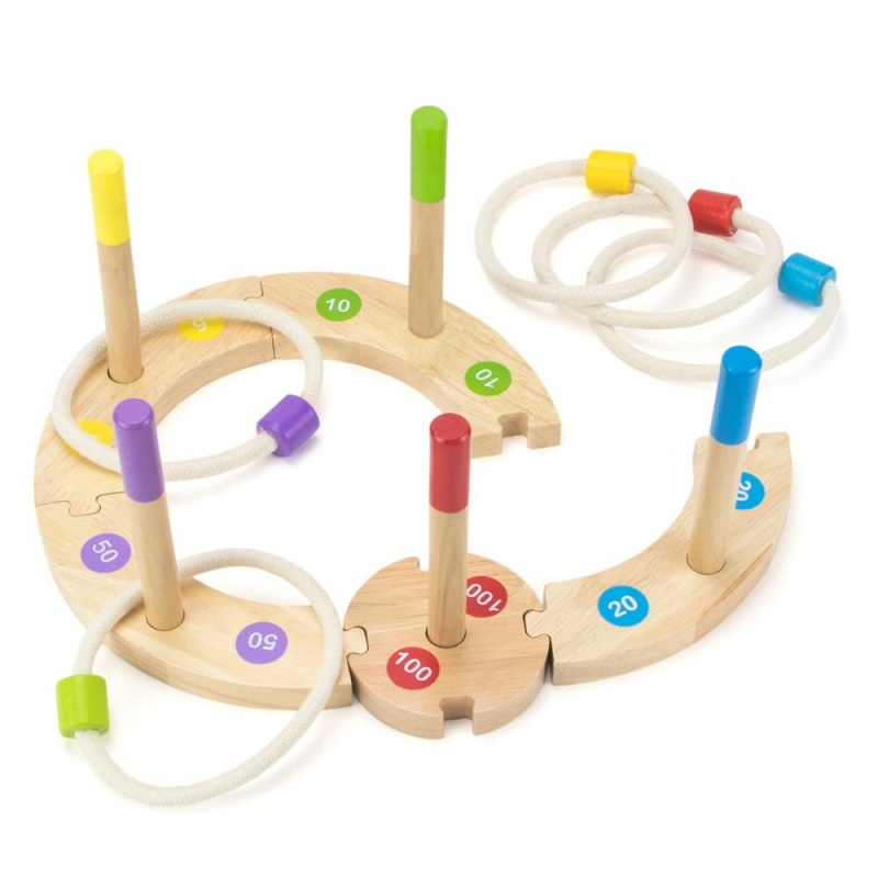 Make Your Own Ring Toss Set   Wooden Throwing Game For Child