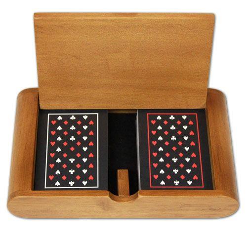 Copag Wood Box Set W/ Epoc Jumbo/Narrow Bridge Playing Cards