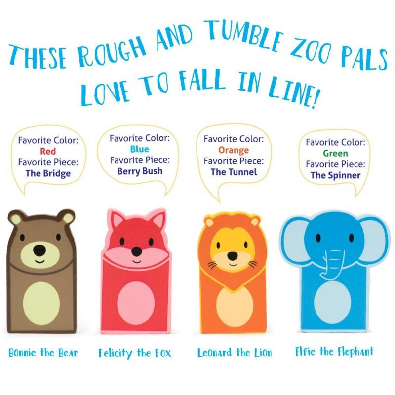 Zoo Animals Domino Rally Playset