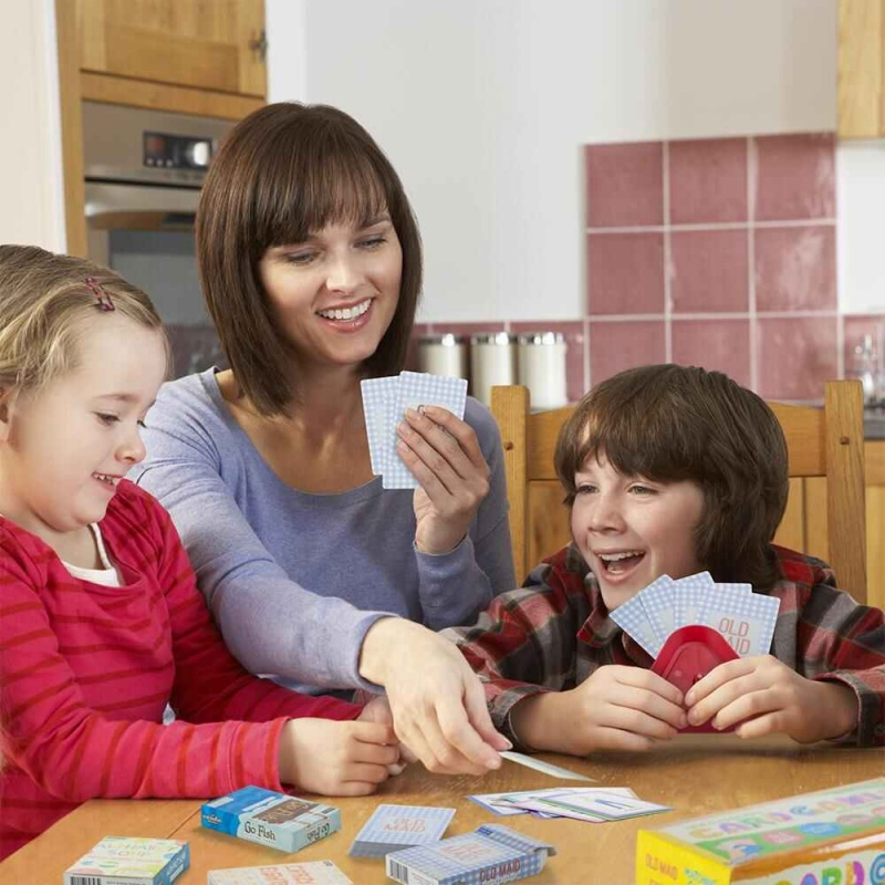 4 Pack Classic Children's Card Games W/ 2 Card Holder