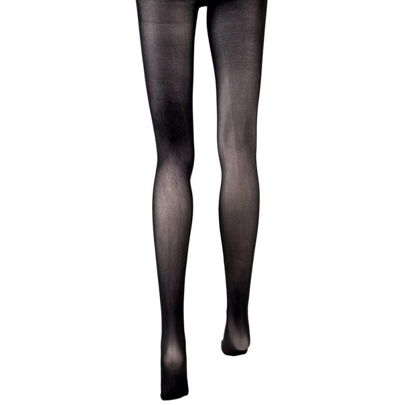 Flamin' Black Mid Rise Costume Tights