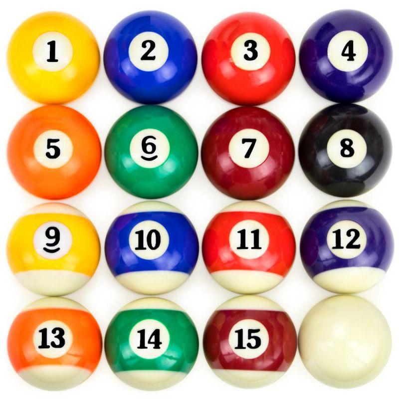 Precision Engineered Billiard Balls Full Set Of 16 Ball