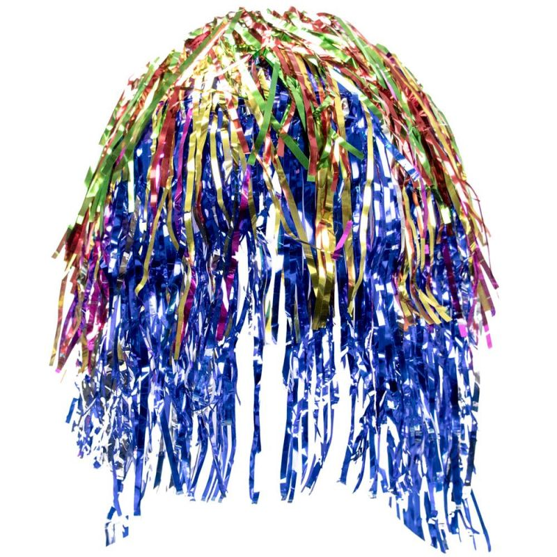 Tinsel Wigs 6-pack, Rainbow
