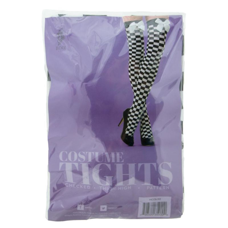 Checkered Thigh High Costume Tights