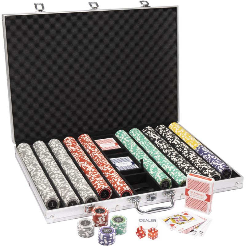 1000 Ct Eclipse Poker Chip Set W/ Aluminum Case 14 Gram Chip