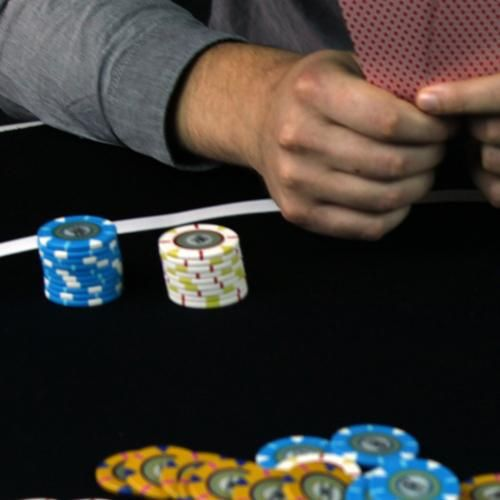 54' Black Sure Stick Poker Table Layout With Rubber Grip