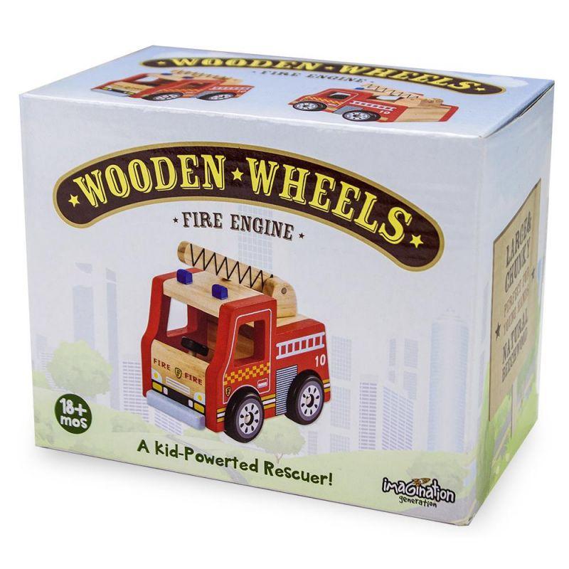 Wooden Wheels Fire Engine