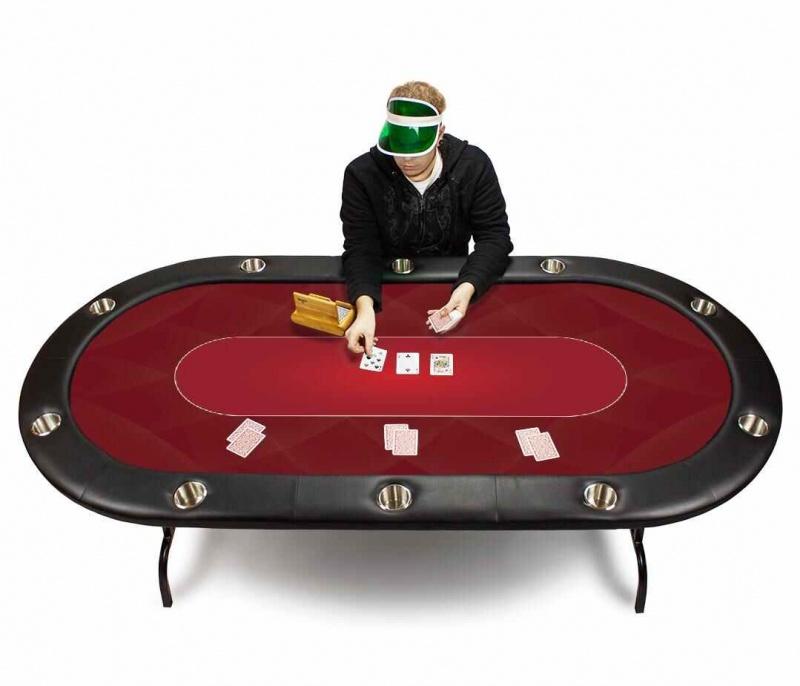 Red Sublimation Poker Table Felt