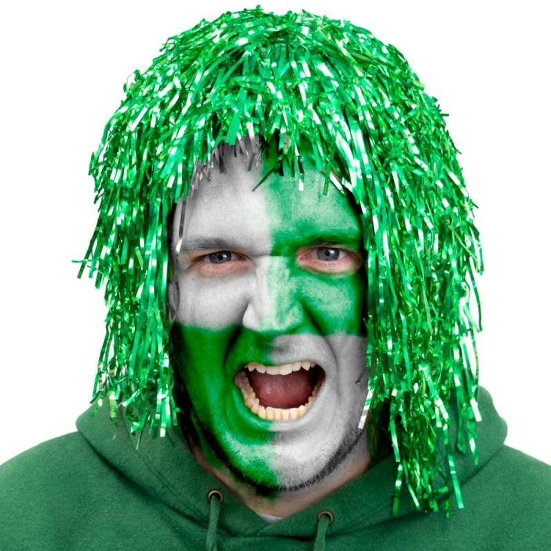 Tinsel Wigs 6-pack, Green