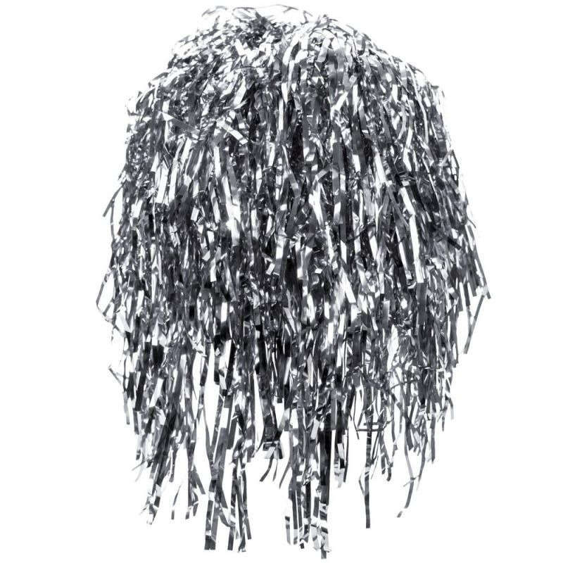 Tinsel Wigs 6-pack, Silver
