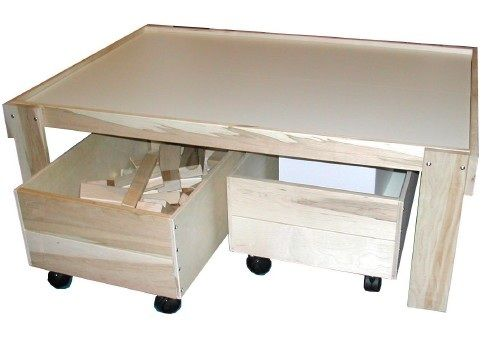 Beka Train Table: Maple Table with Baltic Birch Split Top