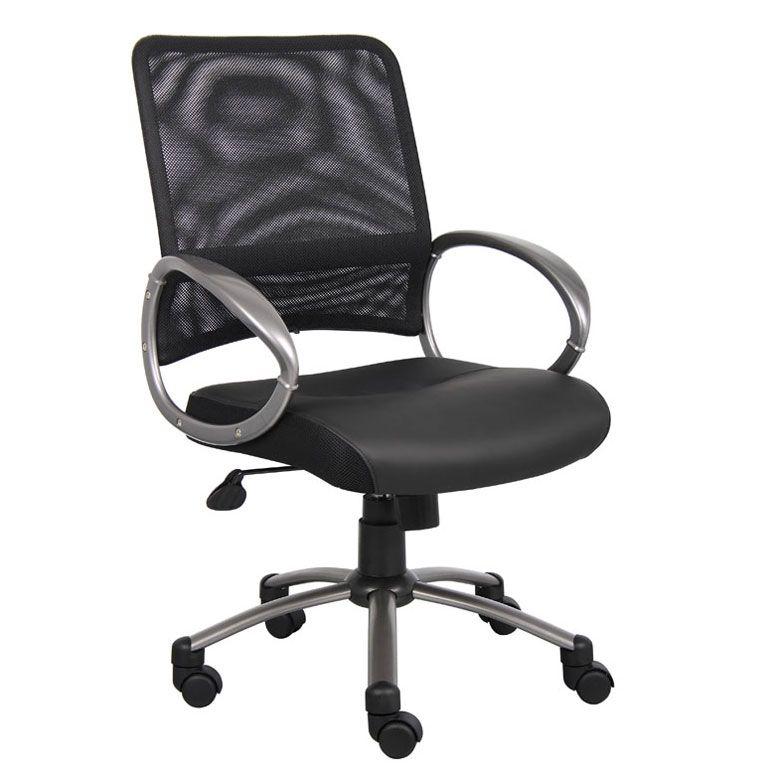 Boss Mesh Back W/ Pewter Finish Task Chair