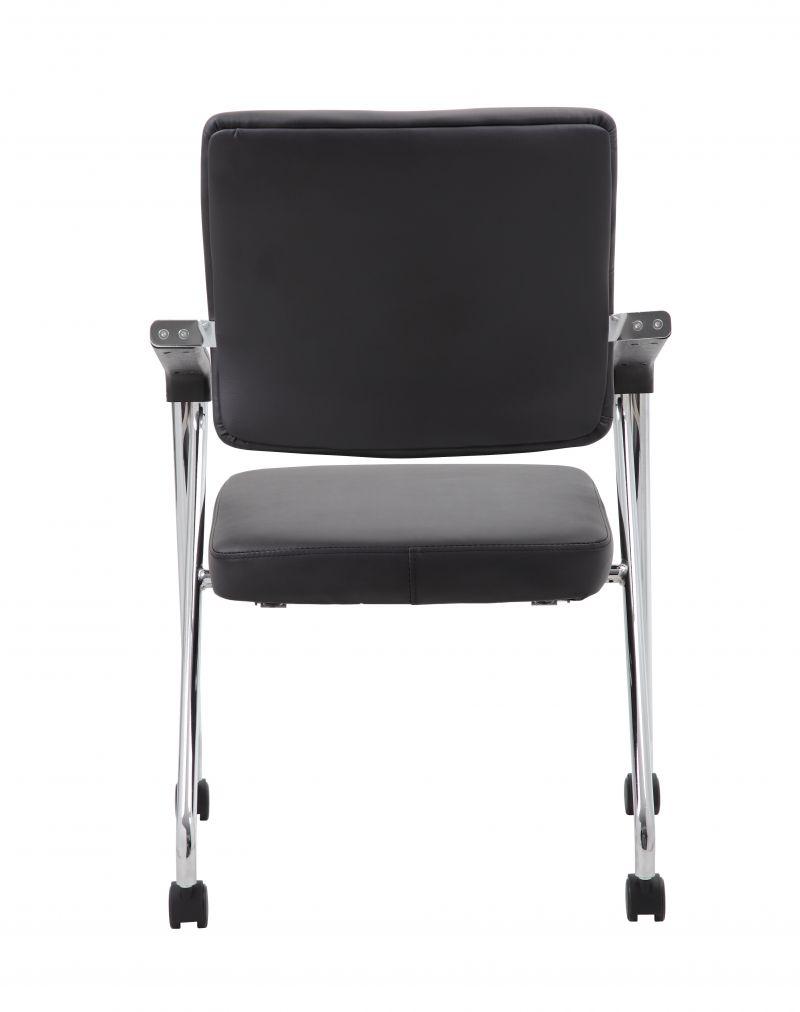 Boss Black Caressoft™ Plus Training Chair With Chrome Frame, (set Of 2)