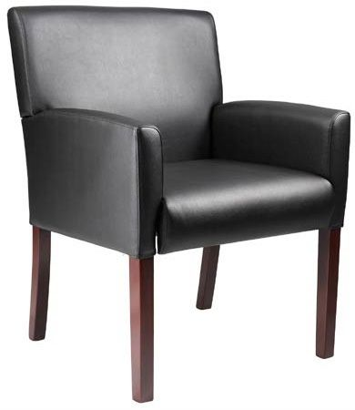 Boss Box Arm Guest, Accent Or Dining Chair W/mahogany Finish