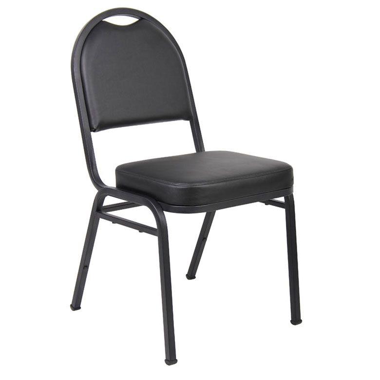 Boss Black Caressoft™ Banquet Chair (set Of 4)