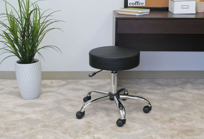 Boss Be Well Medical Spa Professional Adjustable Stool Black