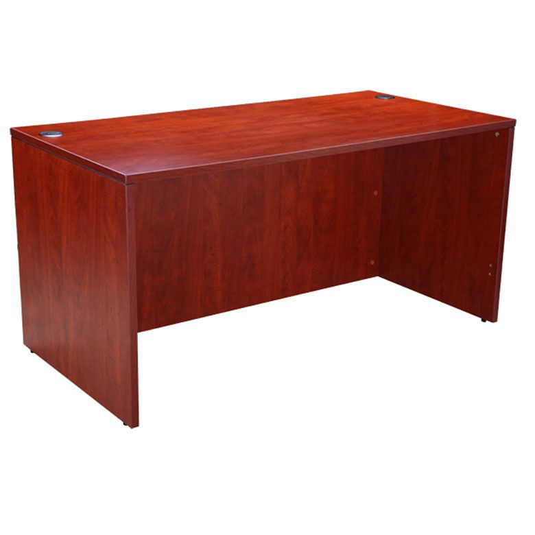 Boss Desk Shell, 60″W X 30″D, Cherry