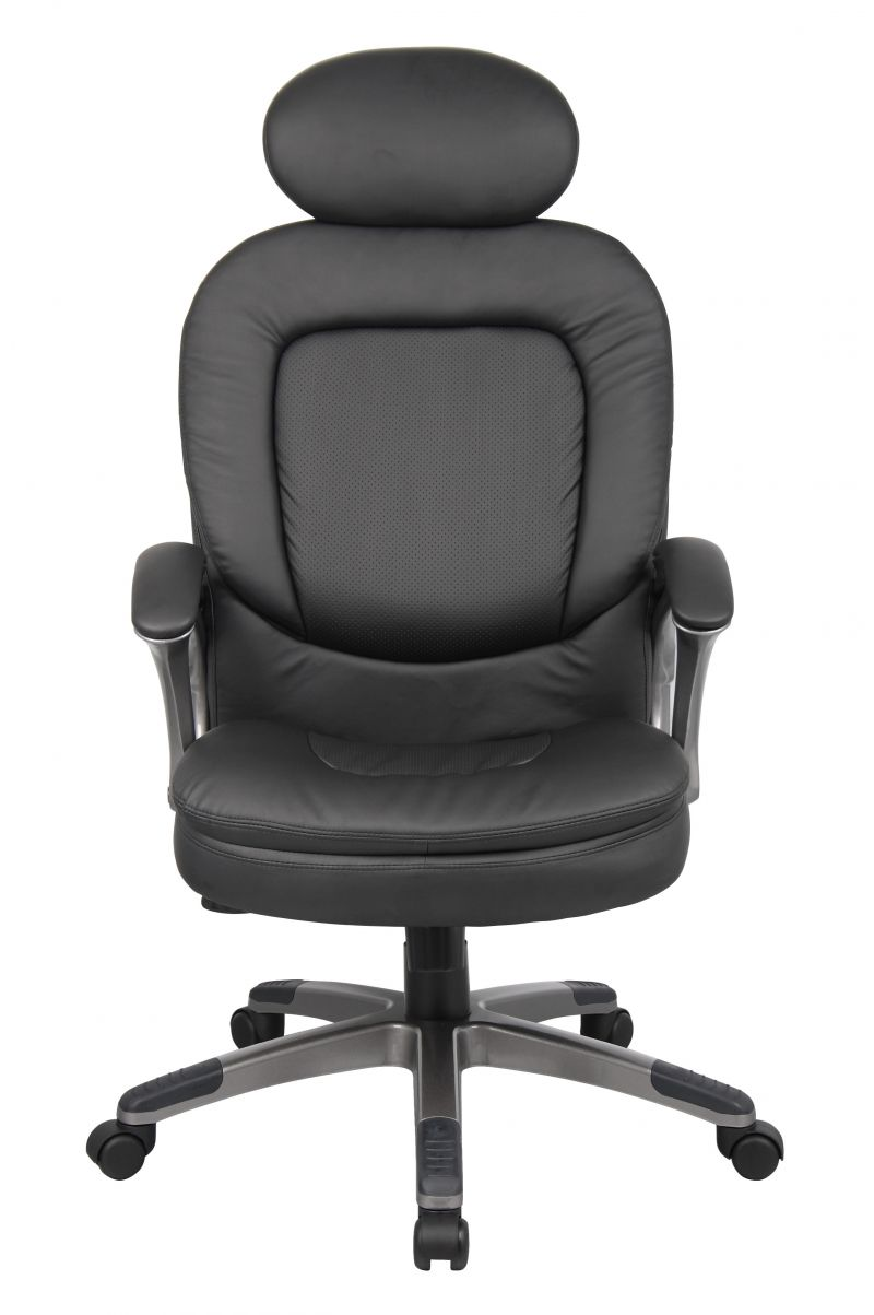 Boss Executive Pillow Top Chair W/ Headrest