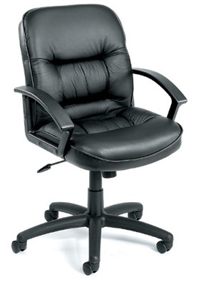 Boss Mid Back Leatherplus Chair W/ Knee Tilt