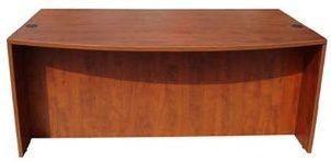 Boss Bow Front Desk Shell, Cherry 71W*36/41″D*29.5″h