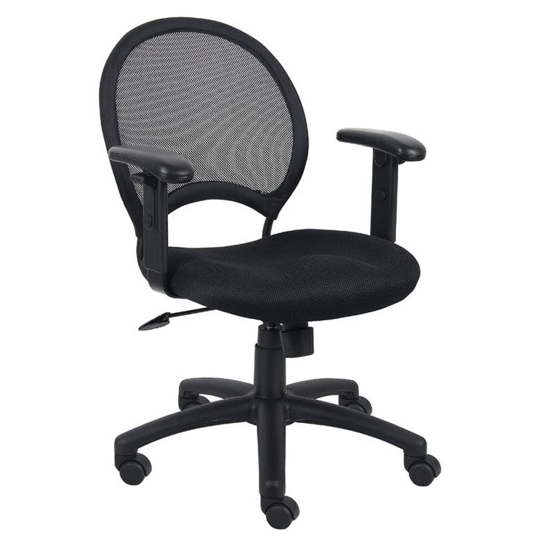 Boss Mesh Chair With Adjustable Arms