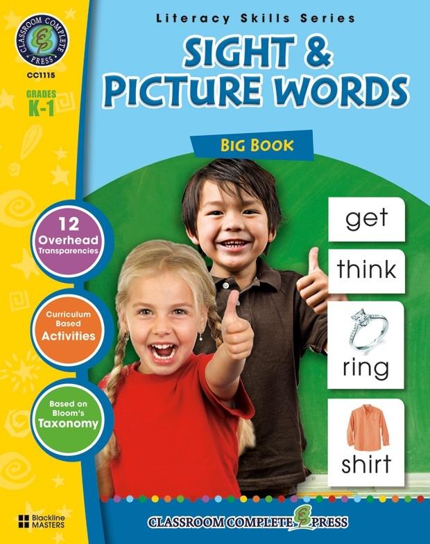 Classroom Complete Regular Education Book: Sight & Picture Words - Big Book, Grades - K, 1