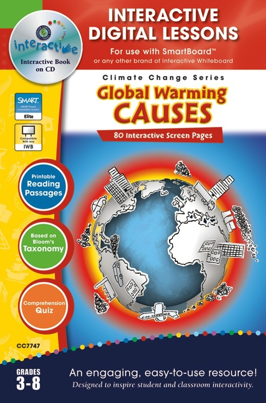 Classroom Complete Software: Global Warming, Causes, Digital Lesson Plans, Grades: 3, 4, 5, 6, 7, 8