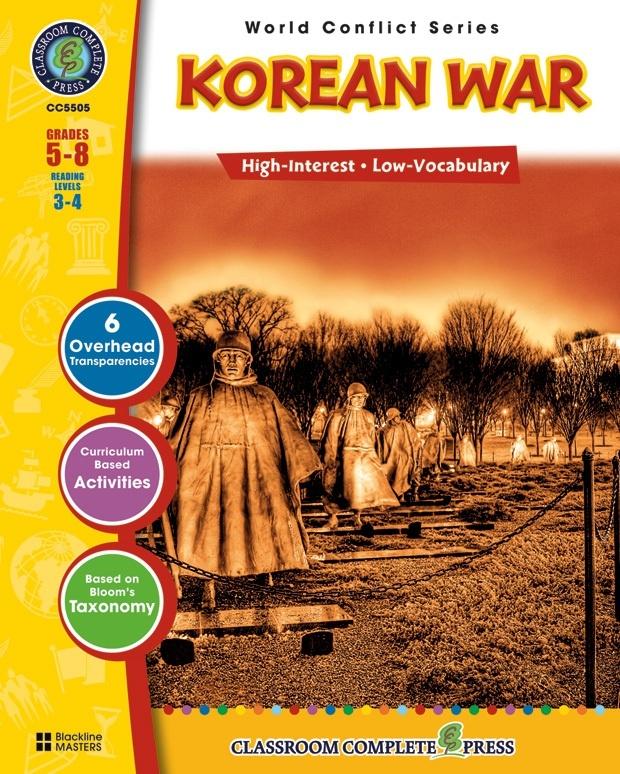 Classroom Complete Regular Education Social Studies Book: Korean War, Grades - 5, 6, 7, 8