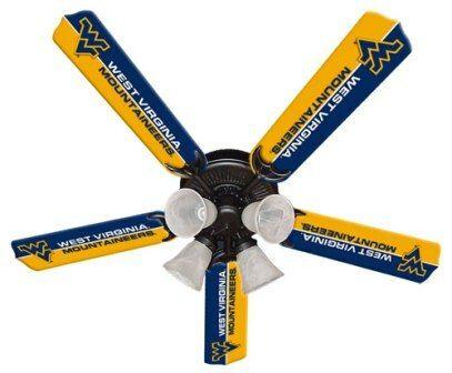 "New Ncaa West Virginia Mountaineers 52"" Ceiling Fan"