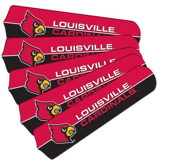 "New Ncaa Louisville Cardinals 42"" Ceiling Fan"