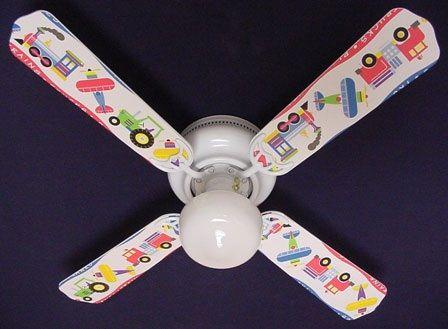 Ceiling Fan Designers Kids Planes Trains Trucks Ceiling Fan
