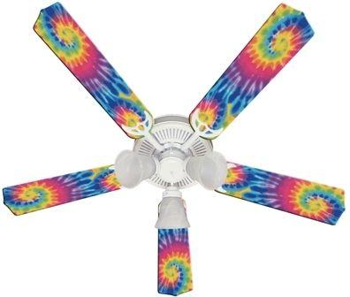 """New Psychedelic Tye Dye Funky Tie Ceiling Fan 52"""""""