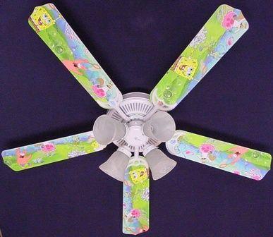 "New Sponge Bob Square Pants Ceiling Fan 52"""