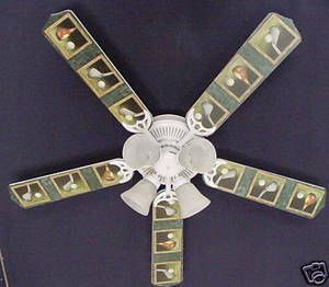 "New Golf Clubs Golfers Ceiling Fan 52"""