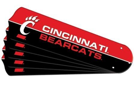 "New Ncaa Cincinnati Bearcats 52"" Ceiling Fan Blade Set"