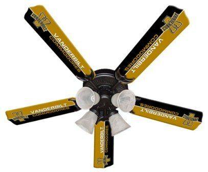 "New Ncaa Vanderbilt Commodores 52"" Ceiling Fan"