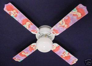 """New Disney Little Mermaid Ariel Ceiling Fan 42"""""""