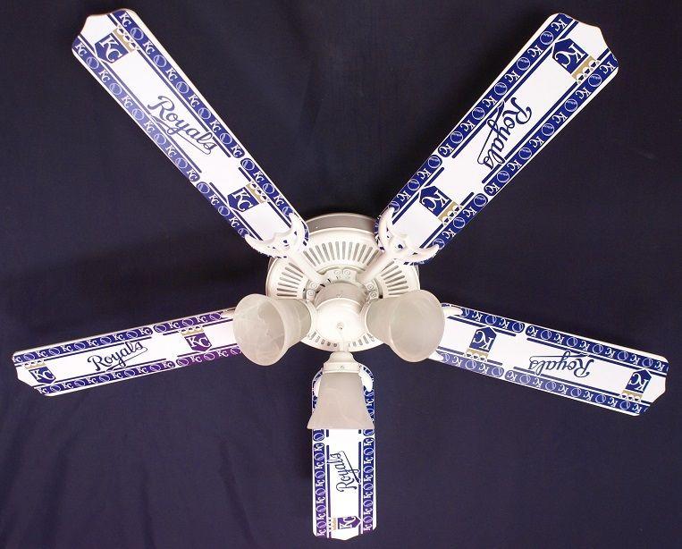 "New Mlb Kansas City Royals Baseball Ceiling Fan 52"""